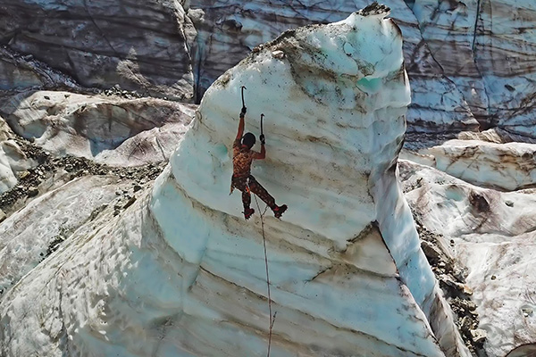 Iceclimbing in the summer